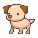 cute, pet, dog, animal, mammal, puppy, cartoon icon