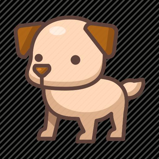 animal, cartoon, cute, dog, mammal, pet, puppy icon