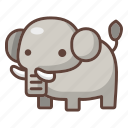 animal, cartoon, elephant, mammal, safari, wildlife, zoo icon