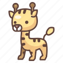 animal, cartoon, cute, giraffe, safari, wildlife, zoo icon