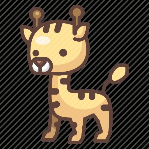 animal, cartoon, cute, giraffe, safari, wildlife, zoo icon