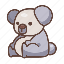 animal, australia, bear, cartoon, koala, mammal, wildlife icon