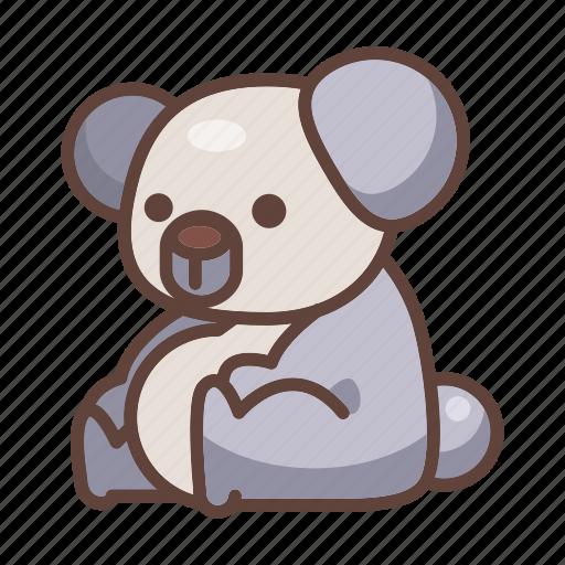 animal, australia, bear, cartoon, koala, mammal, wildlife icon