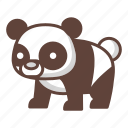 animal, bear, cartoon, cute, panda, style, wildlife icon