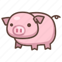 animal, cartoon, cute, mammal, pig, piggy, piglet icon