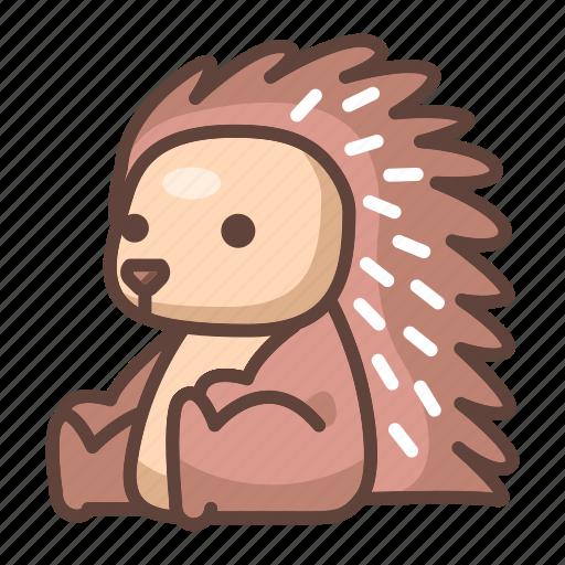 animal, cartoon, cute, hedgehog, porcupine, wildlife icon