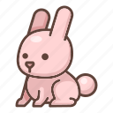 animal, bunny, cartoon, cute, easter, rabbit