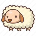 animal, cartoon, cute, farm, lamb, mammal, sheep