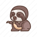 animal, cartoon, cute, lazy, sloth, slow, wildlife icon