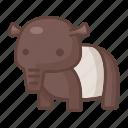 animal, cartoon, mammal, safari, snout, tapir, wildlife icon