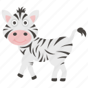animal, animal kingdom, mammal, zebra, zoo icon