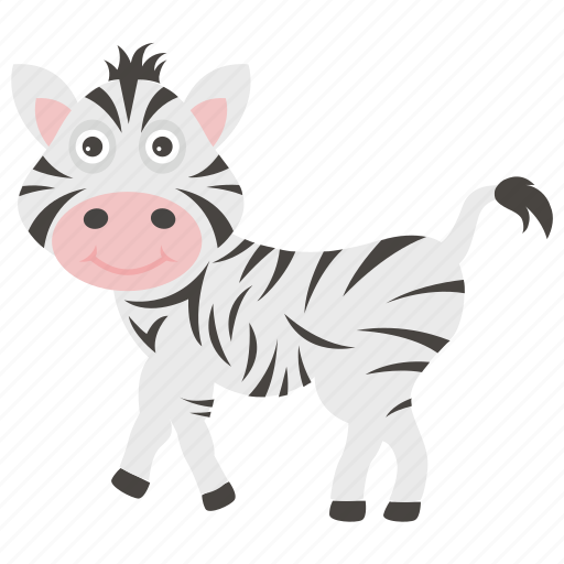 animal, animal kingdom, mammal, zebra, zoo icon