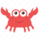 crab, crustacean, lobster, nephropidae, seafood icon