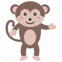 animal, baboon, chimpanzee, monkey, monkey baby icon