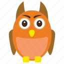 animal, eagle, owl, owl sage, wild icon