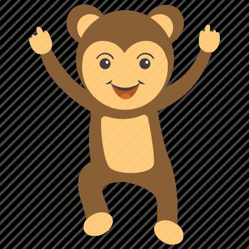 animal, baboon, chimpanzee, monkey, monkey baby icon