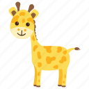 animal, camelopard, forest, giraffe, wild icon