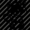 animal, fur animal, racoon, racoon cartoon, racoon drawing icon