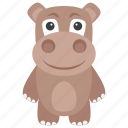 animal, hippo, hippopotamus, mammal, wild animal icon
