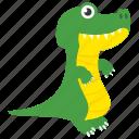 saurian, dinosaur, animal, brachiosaur, tyrannosaurus