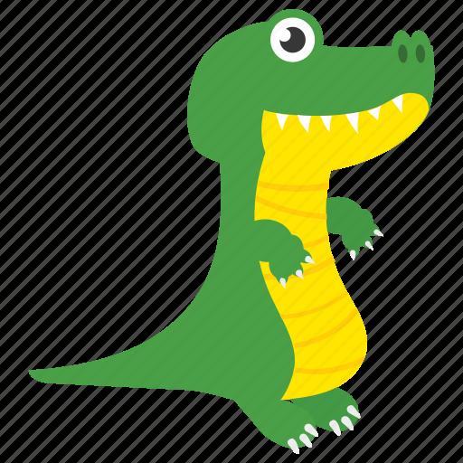animal, brachiosaur, dinosaur, saurian, tyrannosaurus icon