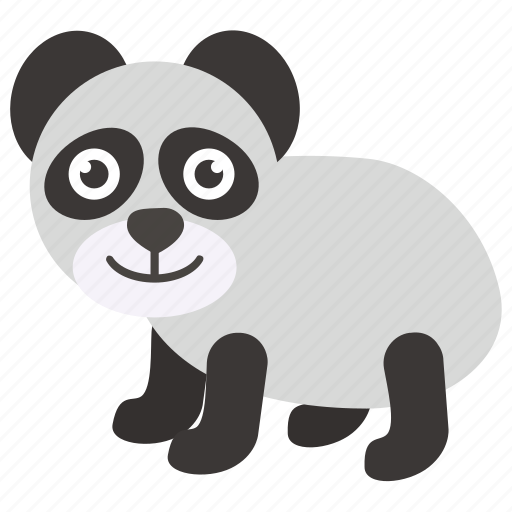 animal, panda, panda baby, panda bear, zoo icon