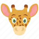 camelopard, wild, giraffe, forest, animal