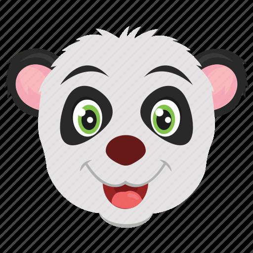 animal, panda, panda bear, panda face, zoo icon