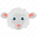 animal, ewe, farm, lamb, sheep icon