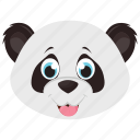 animal, panda, panda bear, panda face, zoo icon