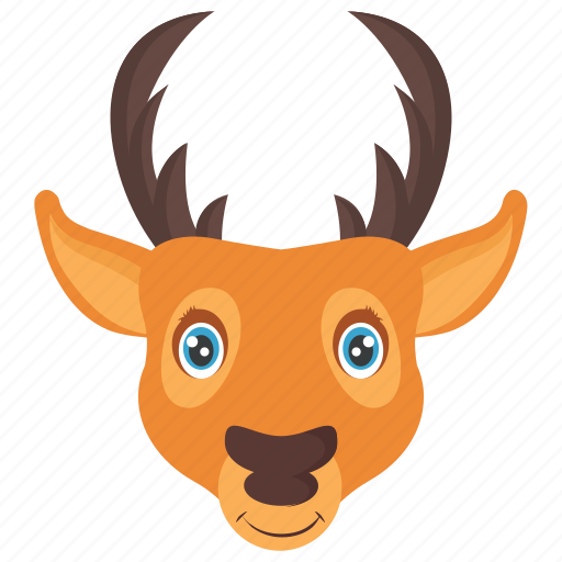 animal, deer, elk, reindeer, reindeer head icon