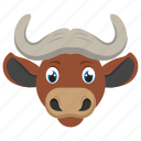 animal, bovine, buffalo, bull, ox icon