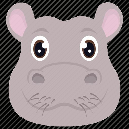 animal, hippo, hippopotamus, jungle, wild icon