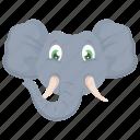 animal, elephant, mammal, pachyderm, zoo