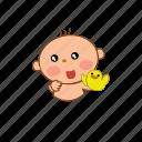 baby, cute, shy icon