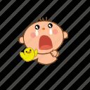 baby, cry, sad icon
