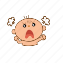 angry, baby, mad icon