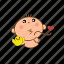 baby, kiss, love icon
