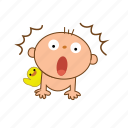 afraid, baby, shock icon
