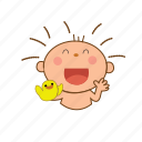 baby, duck, laugh icon