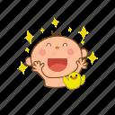 baby, happy, laugh, star icon