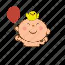 baby, ballon, happy icon