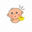 baby, cute, surprice icon