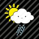 cloud, rainy, sun