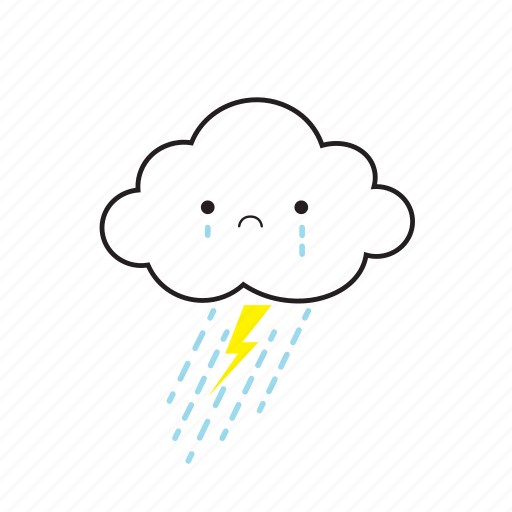 cloud, cry, rainy tender icon
