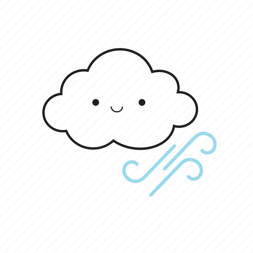 cloud, wind icon