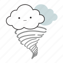 cloud, cloudy, cute, tornado, weather icon