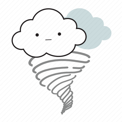 cloud, cloudy, cute, tornado, weather icon