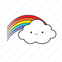 rainbow, cloud, smile