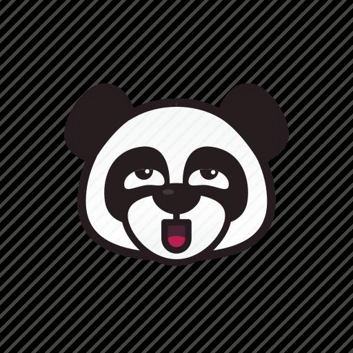 crazy, emoticon, panda, pervert icon